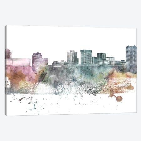 Norfolk Pastel Skyline Canvas Print #WDA1081} by WallDecorAddict Canvas Art