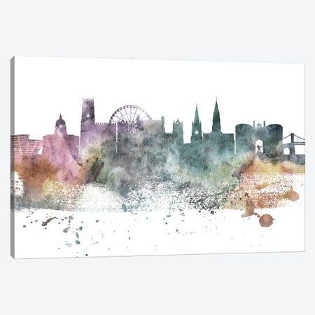 Nottingham Pastel Skyline Canvas Print #WDA1082} by WallDecorAddict Canvas Art