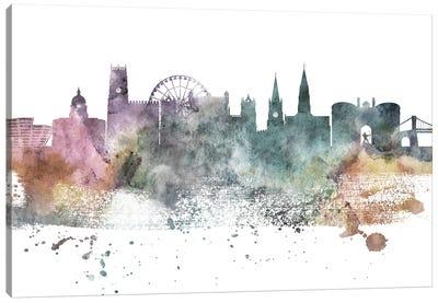 Nottingham Pastel Skyline Canvas Art Print