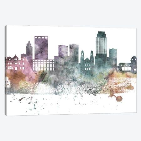 Omaha Pastel Skyline Canvas Print #WDA1083} by WallDecorAddict Canvas Wall Art