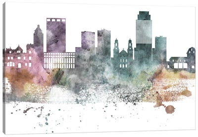 Omaha Pastel Skyline Canvas Art Print