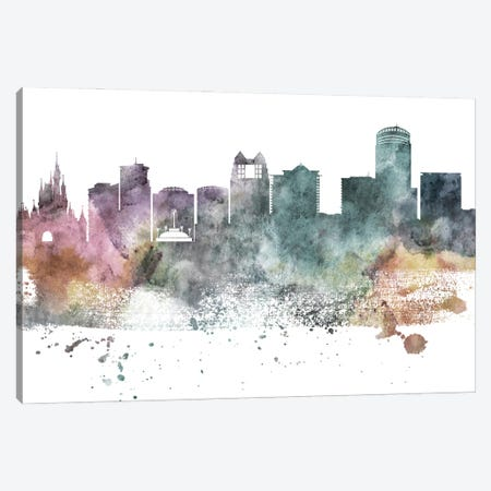 Orlando Pastel Skyline Canvas Print #WDA1085} by WallDecorAddict Canvas Print