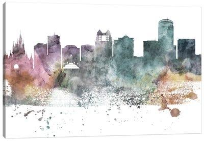 Orlando Pastel Skyline Canvas Art Print