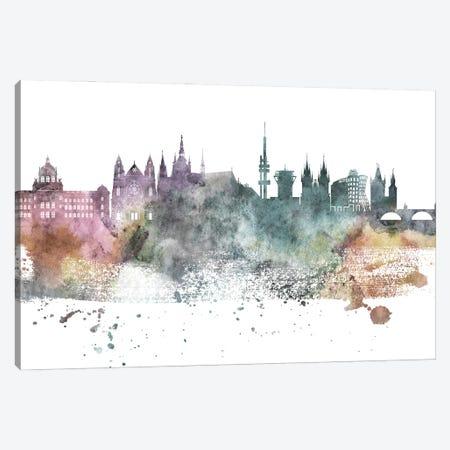 Prague Pastel Skyline Canvas Print #WDA1090} by WallDecorAddict Canvas Art Print