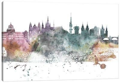 Prague Pastel Skyline Canvas Art Print