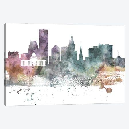 Providence Pastel Skyline Canvas Print #WDA1091} by WallDecorAddict Art Print