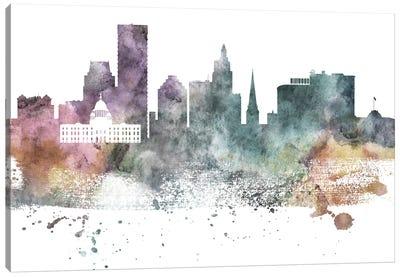 Providence Pastel Skyline Canvas Art Print