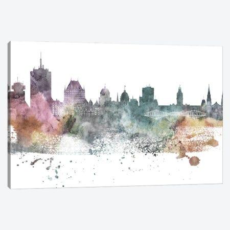 Quebec Pastel Skyline Canvas Print #WDA1092} by WallDecorAddict Canvas Print
