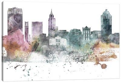 Raleigh Pastel Skyline Canvas Art Print