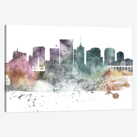 Richmond Pastel Skyline Canvas Print #WDA1095} by WallDecorAddict Canvas Art