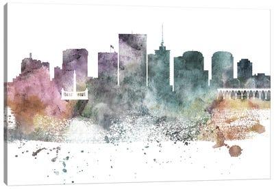 Richmond Pastel Skyline Canvas Art Print