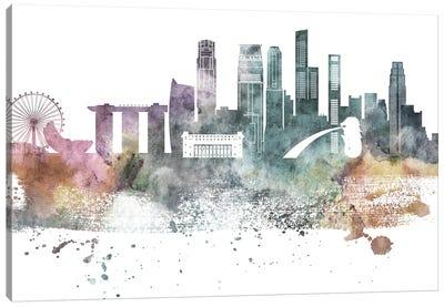 Singapore Pastel Skyline Canvas Art Print
