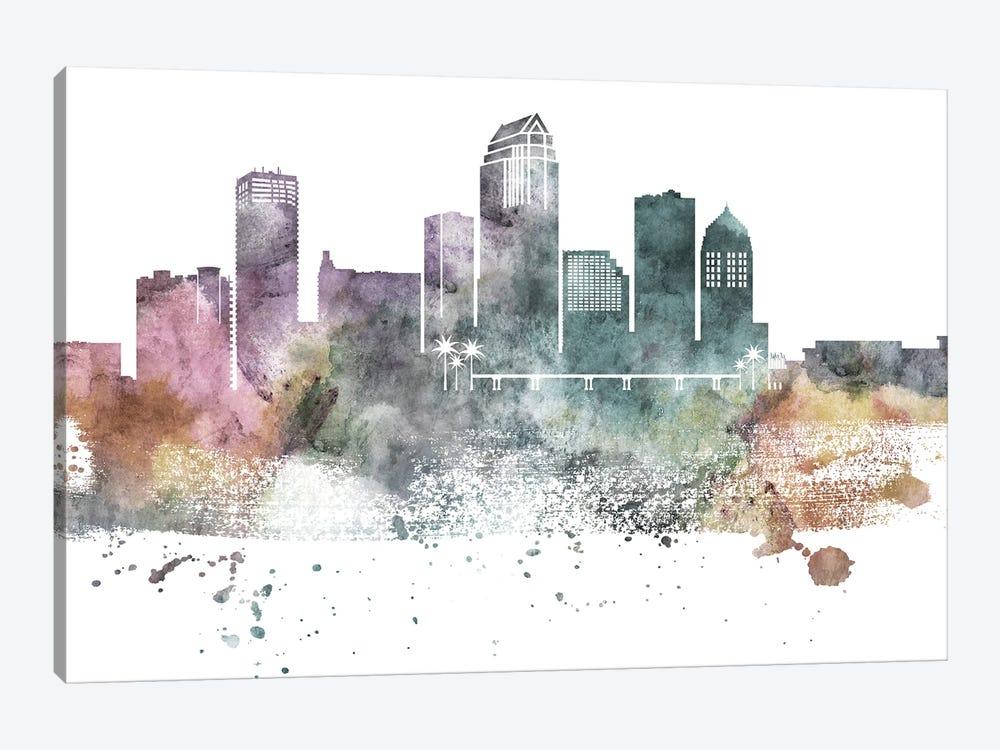 Tampa Pastel Skyline by WallDecorAddict 1-piece Canvas Print