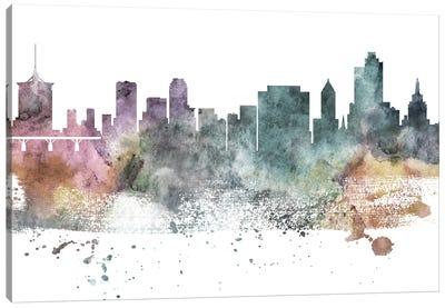 Tulsa Pastel Skyline Canvas Art Print