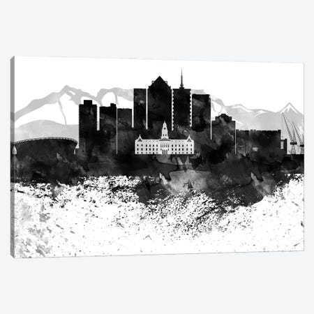 Cape Town Black & White Drops Skyline Canvas Print #WDA1137} by WallDecorAddict Canvas Print
