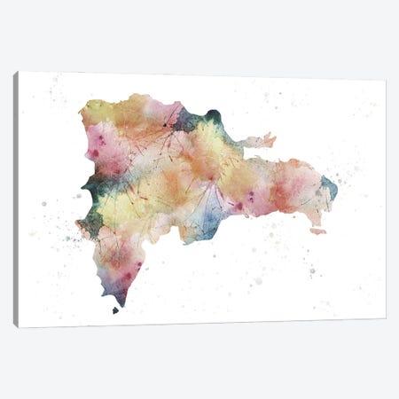 Dominican Republic Nature Watercolor Canvas Print #WDA115} by WallDecorAddict Canvas Wall Art