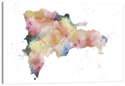 Dominican Republic Nature Watercolor Canvas Art Print