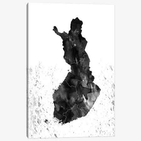 Finland Black And White Canvas Print #WDA116} by WallDecorAddict Canvas Wall Art