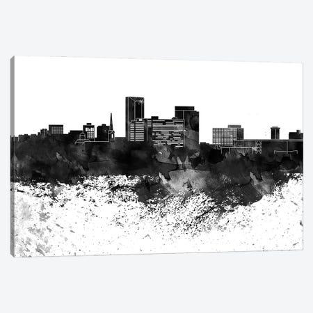 Lexington Black & White Drops Skyline Canvas Print #WDA1176} by WallDecorAddict Canvas Art Print