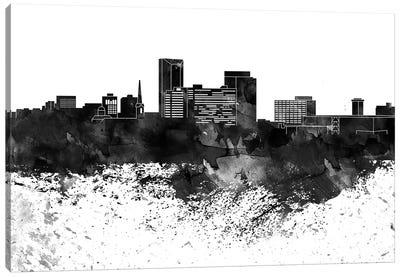 Lexington Black & White Drops Skyline Canvas Art Print