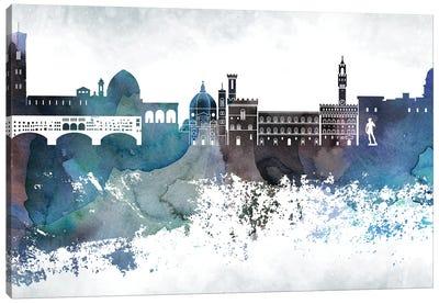 Florence Bluish Skylines Canvas Art Print