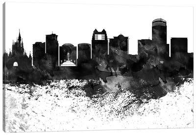 Orlando Black & White Drops Skyline Canvas Art Print