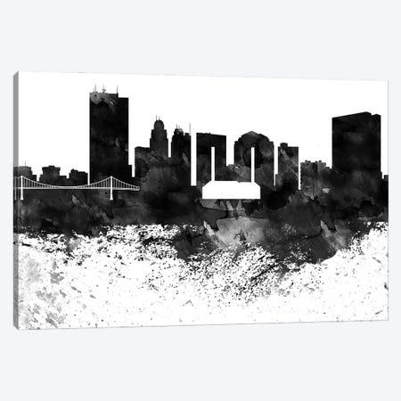 Toledo Skyline Black & White, Drops Canvas Print #WDA1243} by WallDecorAddict Canvas Art
