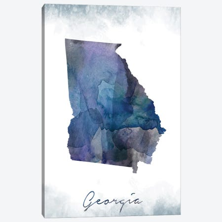 Georgia State Bluish Canvas Print #WDA129} by WallDecorAddict Canvas Wall Art