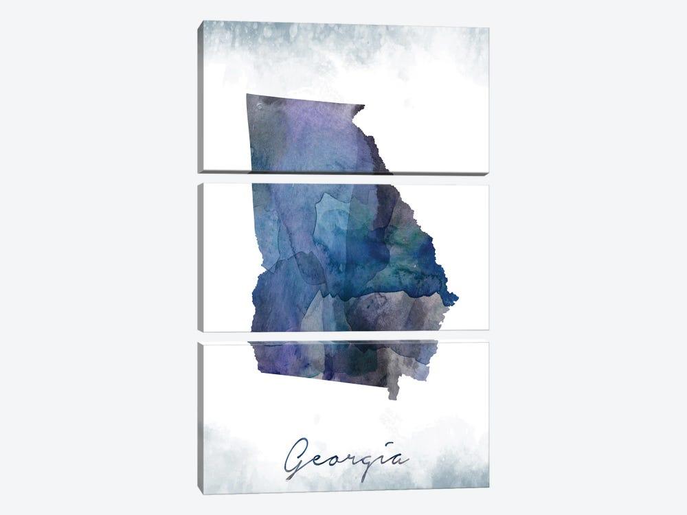 Georgia State Bluish by WallDecorAddict 3-piece Art Print