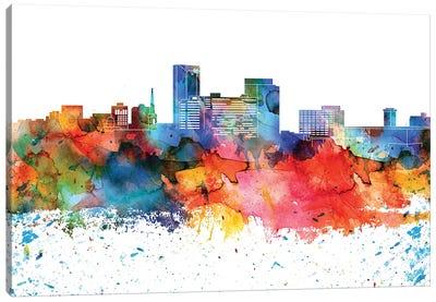 Lexington Colorful Watercolor Skyline Canvas Art Print