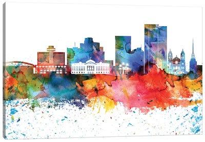 Phoenix Colorful Watercolor Skyline Canvas Art Print