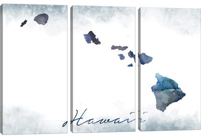 Hawaii State Bluish Canvas Art Print