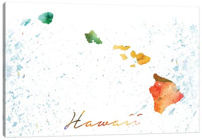 Hawaii State Colorful Canvas Art Print