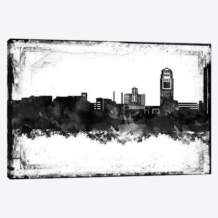 Ann Arbor Black & White Film Canvas Print #WDA1391} by WallDecorAddict Canvas Artwork