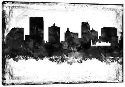 Atlantic City Black & White Film Canvas Art Print