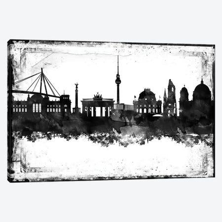 Berlin Black & White Film Canvas Print #WDA1399} by WallDecorAddict Canvas Art