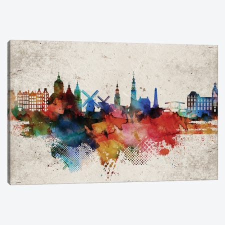 Amesterdam Abstract Canvas Print #WDA13} by WallDecorAddict Canvas Art