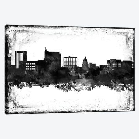 Boise Black & White Film Canvas Print #WDA1400} by WallDecorAddict Canvas Wall Art