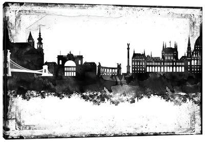Budapest Black & White Film Canvas Art Print