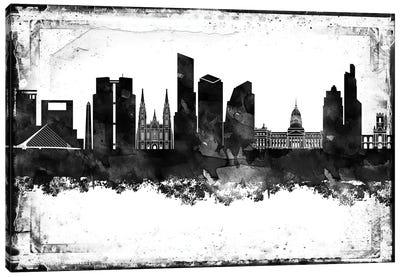 Buenos Aires Black & White Film Canvas Art Print