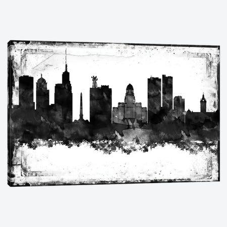 Buffalo Black & White Film Canvas Print #WDA1404} by WallDecorAddict Canvas Print