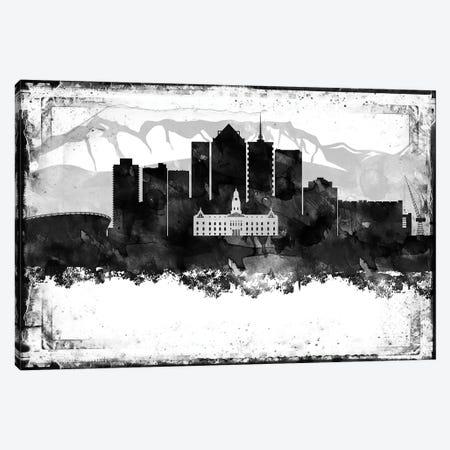 Cape Town Black & White Film Canvas Print #WDA1407} by WallDecorAddict Art Print