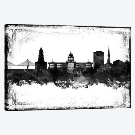 Charleston Black & White Film Canvas Print #WDA1408} by WallDecorAddict Canvas Artwork