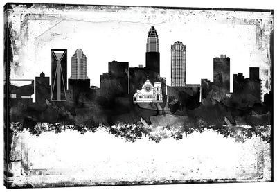 Charlotte Black & White Film Canvas Art Print
