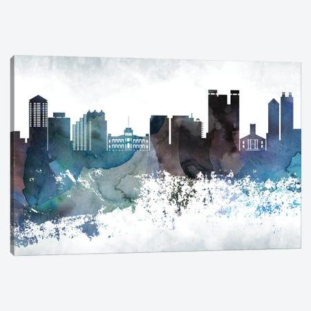 Honolulu Bluish Skylines Canvas Print #WDA140} by WallDecorAddict Canvas Art