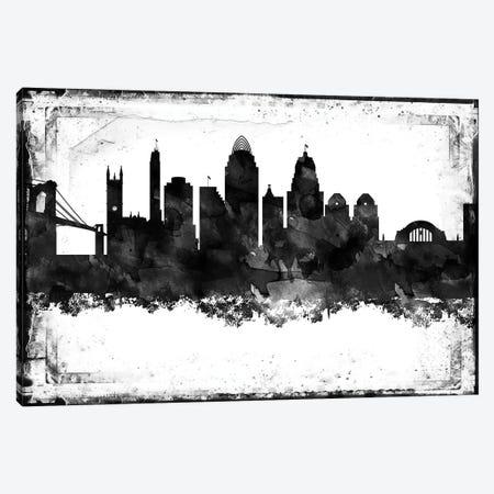 Cincinnati Black & White Film Canvas Print #WDA1410} by WallDecorAddict Canvas Print