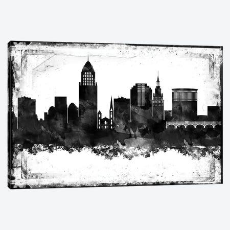 Cleveland Black & White Film Canvas Print #WDA1411} by WallDecorAddict Art Print