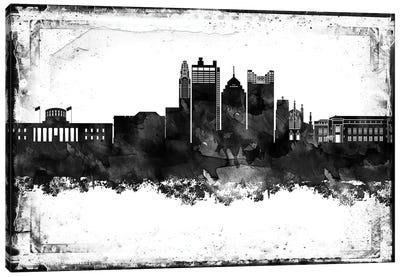 Columbus Black & White Film Canvas Art Print