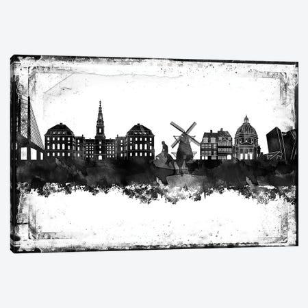 Copenhagen Black & White Film Canvas Print #WDA1414} by WallDecorAddict Canvas Art