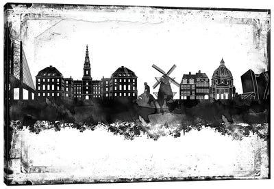 Copenhagen Black & White Film Canvas Art Print